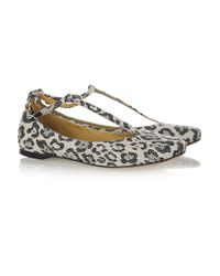 See By Chloé | Multicolor Leopard-print Canvas Flats | Lyst