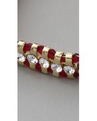 Shashi - Red One Row Bandana Bracelet - Lyst