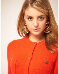 ASOS Collection - Metallic Asos Bauble Interlink Circle Drop Earrings - Lyst