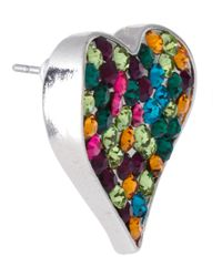 ASOS Collection - Multicolor Asos Multi Heart Stone Stud Earrings - Lyst