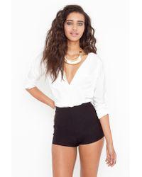 Nasty Gal | High Waist Hot Shorts - Black | Lyst