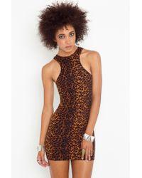 Nasty Gal | Multicolor Leopard Racer Dress | Lyst