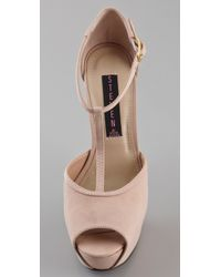 Steven by Steve Madden | Pink Angels T Strap Pumps | Lyst