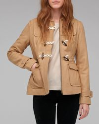 Tulle | Natural Short Coat with Toggle | Lyst