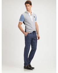 Viktor & Rolf | Blue Colorblock Cotton Polo for Men | Lyst