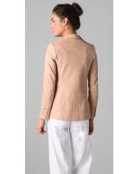 Vince | Pink Leather Blazer | Lyst