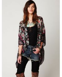 Free People - Black Structured Washed Blazer - Lyst