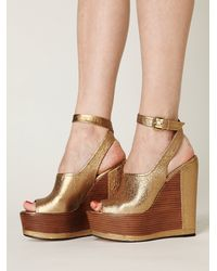 Free People | Metallic Camryn Platform | Lyst