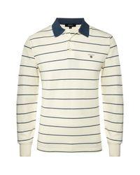 GANT | Natural Breton Polo Shirt for Men | Lyst