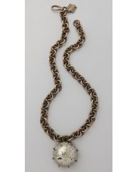 Kelly Wearstler | Metallic Chain Necklace with Pyrite Sphere | Lyst