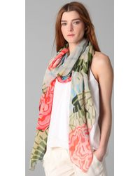 Thakoon Addition | Multicolor Cabbage Rose Scarf | Lyst