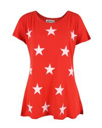 Wildfox | Red New For Ss12 - Wcj741h01 Starshine Free Love T-shirt | Lyst