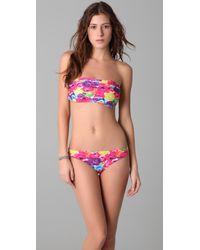 Alice + Olivia | Multicolor Floral Bandeau Bikini Top | Lyst