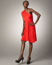 Alice + Olivia | Orange Camara Asymmetric Dress | Lyst