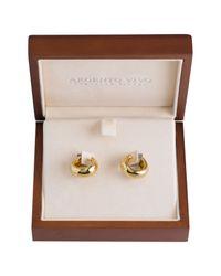 Argento Vivo | Metallic Boxed Huggie Hoop Earrings | Lyst