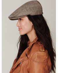 Free People | Brown Pioneer Cable Driving Cap | Lyst