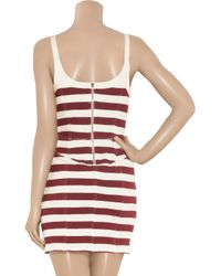 Isabel Marant - Red Gusto Striped Cotton-jersey Tank Dress - Lyst