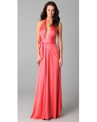 Issa | Pink Long Halter Gown | Lyst