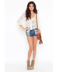 Nasty Gal | White Juliet Lace Blouse | Lyst