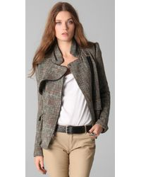 Yigal Azrouël - Gray Tweed Jacket - Lyst