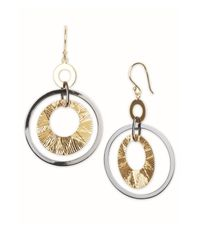 Argento Vivo | Metallic Gamma Ray Large Double Circle Earrings | Lyst