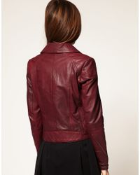 ASOS Collection | Red Asos Faux Leather Biker Jacket | Lyst