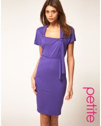 ASOS Collection | Purple Asos Petite Plain 40s Tea Dress | Lyst