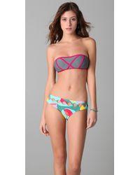 Brette Sandler Swimwear | Multicolor Molly Bandeau Bikini | Lyst