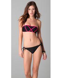 Brette Sandler Swimwear | Black Molly Bandeau Bikini | Lyst