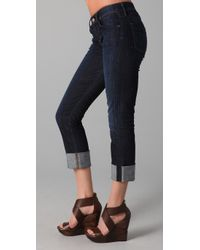 Citizens of Humanity - Blue Dani Cropped Straight Leg Jeans - Lyst