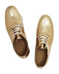 Esquivel | Metallic Leather Derby Shoes | Lyst