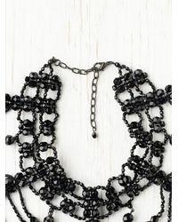Free People - Black Roaring Bead Collar - Lyst