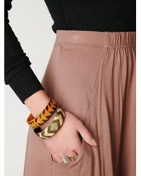 Free People | Brown Mad Cool Skirt | Lyst
