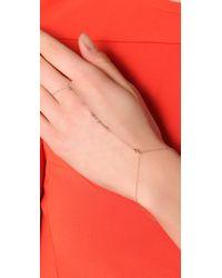 Jacquie Aiche - Metallic 5 Gemstones Chain Finger Bracelet - Lyst