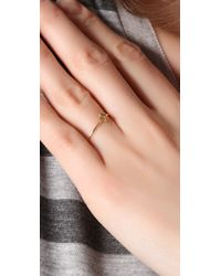 Jacquie Aiche - Yellow Diamond Mini Star Waif Ring - Lyst