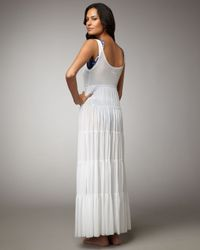 Jean Paul Gaultier   White Tiered Cover-up Maxi Dress   Lyst