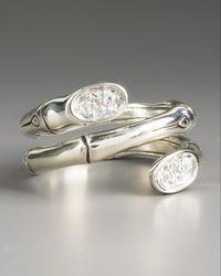 John Hardy - Metallic Double-twirl Pave Sapphire Ring - Lyst