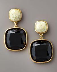 kate spade new york | Brown Cobblestone Drop Earrings | Lyst