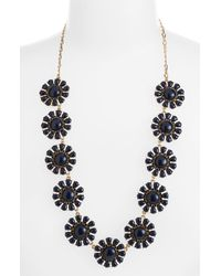 kate spade new york   Blue Glossy Garden Long Necklace   Lyst