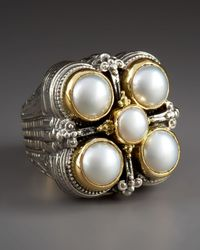 Konstantino | White Five-pearl Ring | Lyst