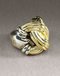 Lagos | Yellow Knot Ring | Lyst