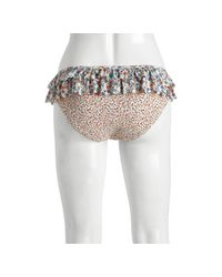 Marc By Marc Jacobs | Multicolor Tinted Pearl Folly Floral/Tutti Fruity Double Ruffle Bikini Bottom | Lyst