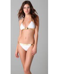 Michael Kors | White Speed Clip Bikini Set | Lyst