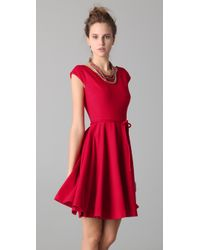 MILLY | Red Sophia Circle Skirt Dress | Lyst