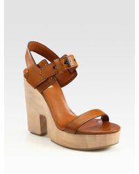 Reed Krakoff | Brown Cutout Wedge Sandal | Lyst