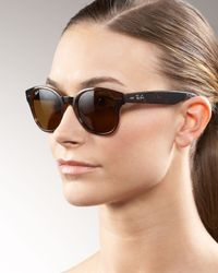 Ray-Ban | Brown Large Rounded Wayfarer Sunglasses | Lyst
