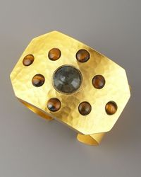 Stephanie Anne - Metallic Rejoice Multi-stone Cuff, Labradorite - Lyst