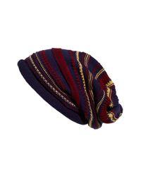 Tarnish | Blue Folk Knit Slouchy Cap | Lyst