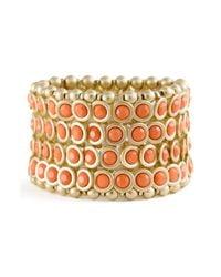 Tasha | Pink Bezel Set Stone Stretch Bracelet | Lyst