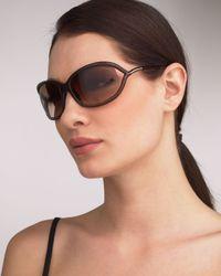 Tom Ford | Jennifer Sunglasses, Light Brown | Lyst